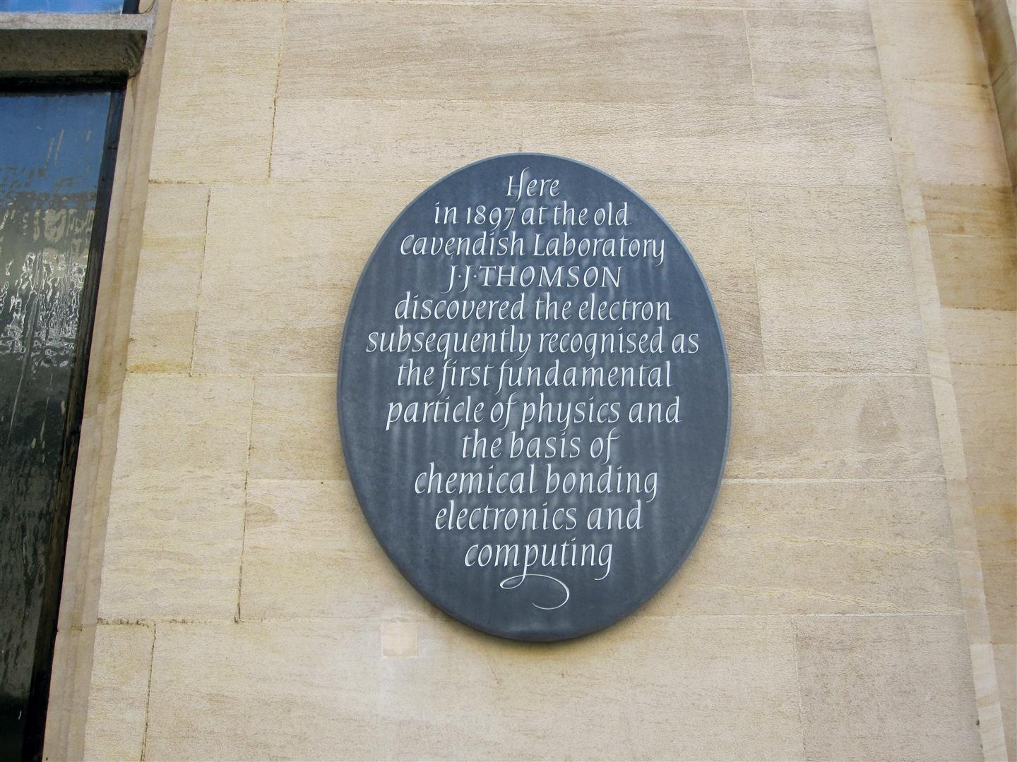 JJ Thomson Plaque (Large)